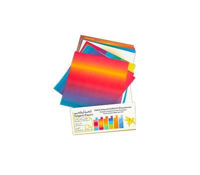 کاغذ اریگامی 14سانتی متر نقش رنگین کمان 55برگ (6طرح) پیشگامان