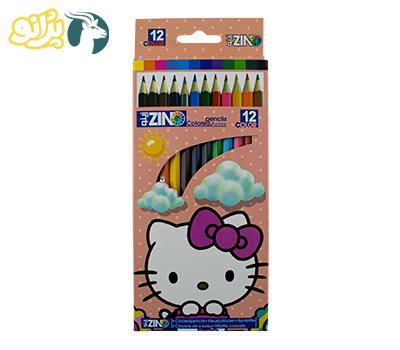 مداد 12 رنگ پلیمری جعبه مقوایی زینو