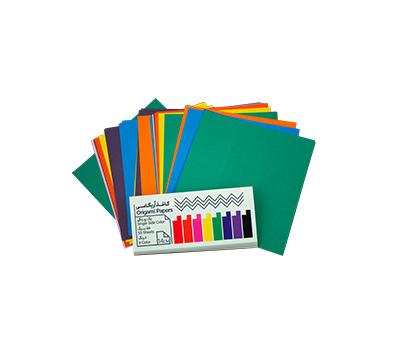 کاغذ اریگامی 14سانتی متر یک رو رنگی 55برگ (8رنگ) پیشگامان
