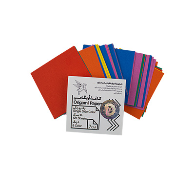 کاغذ اریگامی 7سانتی متر یک رو رنگی 120برگ (8رنگ) پیشگامان
