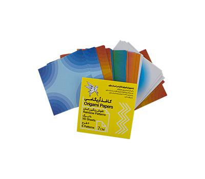 کاغذ اریگامی 7سانتی متر نقش رنگین کمان 110برگ (6طرح) پیشگامان