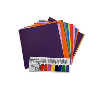 کاغذ اریگامی 20سانتی متر یک رو رنگی 40برگ (8رنگ) پیشگامان