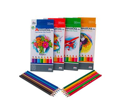 مداد 12 رنگ پلیمری جعبه مقوایی ادمیرال