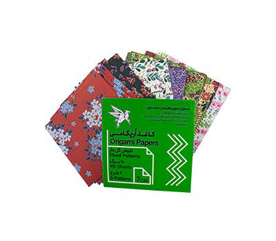 کاغذ اریگامی 7سانتی متر نقش گل دار 110برگ (6طرح) پیشگامان