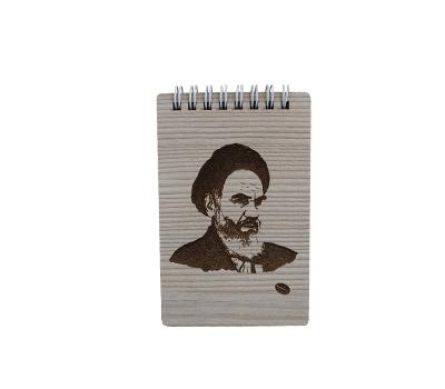 یادداشت فنری سایز 12*8 جلد چوبی طرح شهدا هیرون