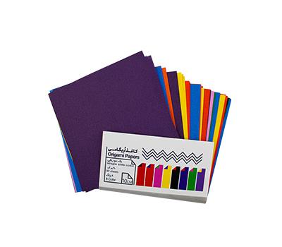 کاغذ اریگامی 10سانتی متری یک رو رنگی 90برگ (8رنگ) پیشگامان