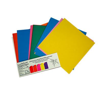 کاغذ اریگامی 20سانتی متر دورو رنگی 40برگ (8رنگ) پیشگامان