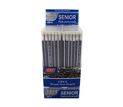 مداد 12عددی مشکی پاکندار بدنه سرمه ای-سفید هدهدک