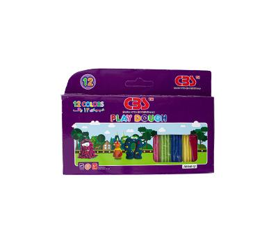 خمیر بازی 12رنگ جعبه مقوایی مدل 648 سی بی اس